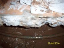Copper pipe leak under the slab in Oklahoma City