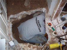 Leak Under Slab Access Site
