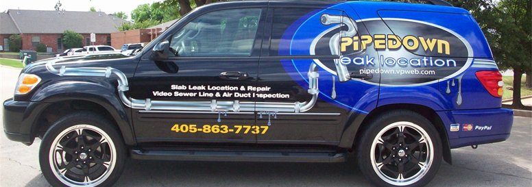 """Pipe Down"" Slab Leak Location - (405) 863-7737"